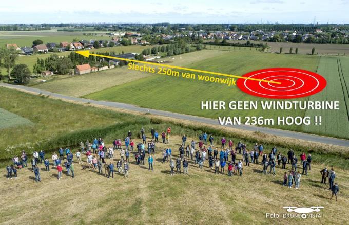 De bewoners van de Vagevuurwijk dienen opnieuw massaal bezwaarschriften in tegen de mogelijke komst van drie windmolens.© WK
