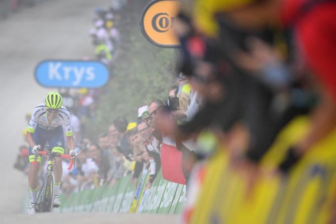 Xandro Meurisse werd twee jaar geleden onder meer derde in de Vogezenrit naar La Planche des Belles Filles.© BELGA