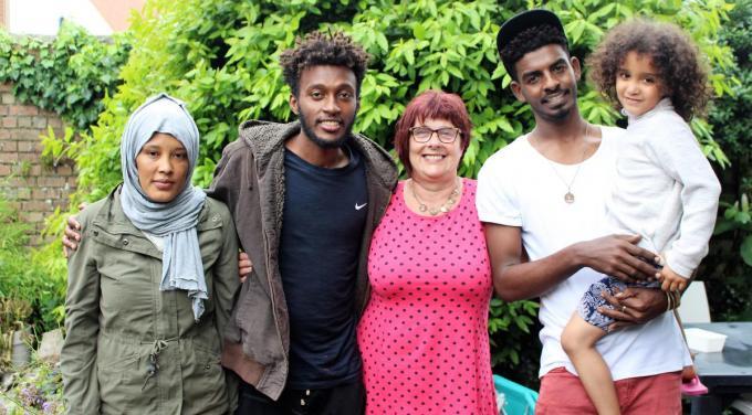 Momenteel verblijven bij Rita Vandenberghe onder meer een gezin uit Eritrea en enkele jongens uit Soedan.