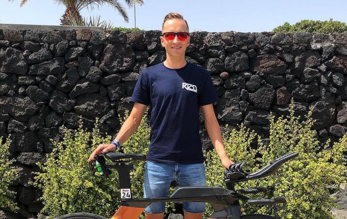 Kenneth Vandendriessche miste zijn Ironman debuut niet op Lanzarote.© GF