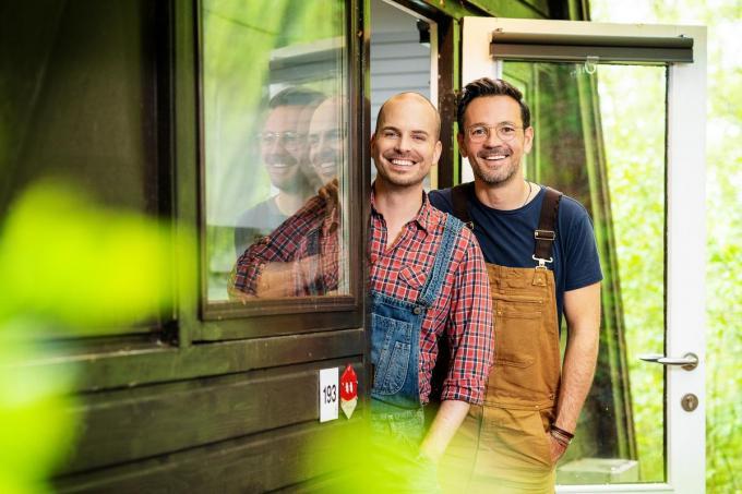 Ewoud en Tim gaan de uitdaging aan.© VTM