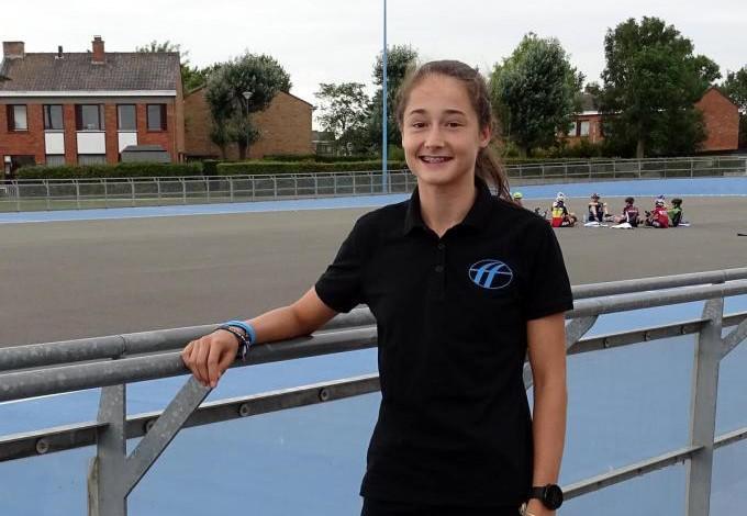 Fran Vanhoutte vertegenwoordigt de Zwaantjes uit Zandvoorde in de A-junioren reeks op het EK.© FRO