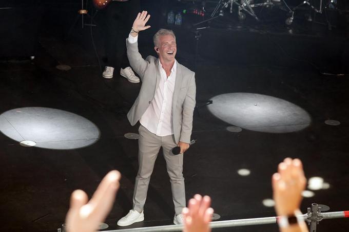 Wat was Christoff gelukkig dat hij weer mocht zingen voor zijn publiek.© PADI/Daniël
