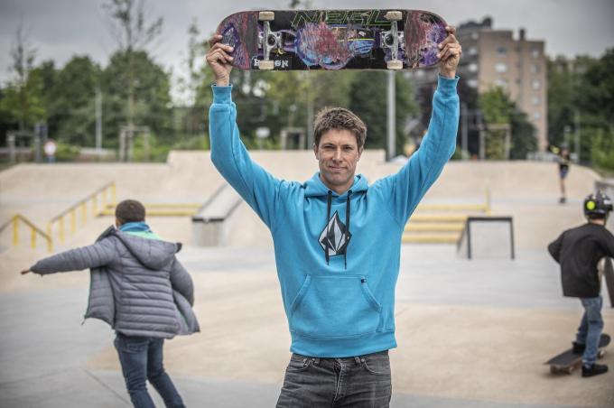 Jonathan Verhaeghe hielp het skatepark mee ontwerpen.© Stefaan Beel