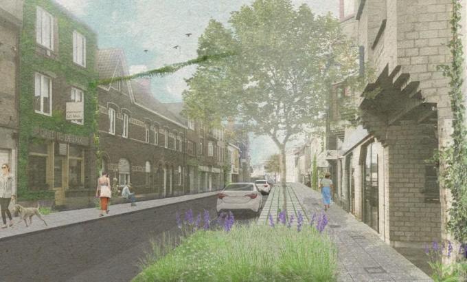 Een beeld van de toekomstige Ardooisesteenweg.