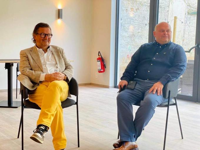 Marc Coucke (links) en Ben Van den Keybus.
