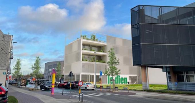 Zo zal de nieuwe school er uitzien langs de Bruggesteenweg. (gf)