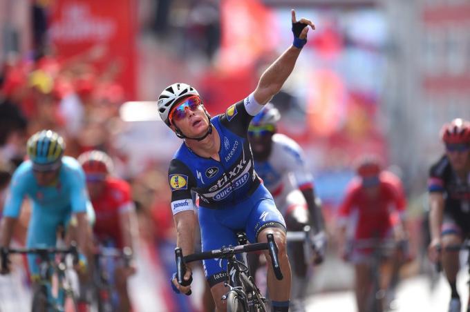 Gianni Meersman won in de Vuelta van 2016 twee etappes.