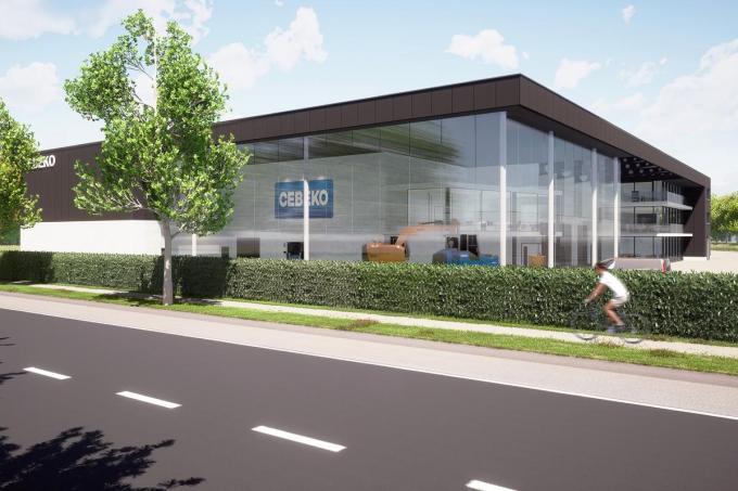 Zo zal de Cebeko-nieuwbouw pal aan de Roeselaarseweg er straks uitzien. Een ontwerp van Claeys Architecten uit Roeselare.