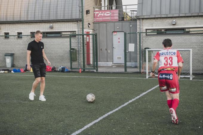 Ante Palaversa trainde een stukje mee woensdagavond.