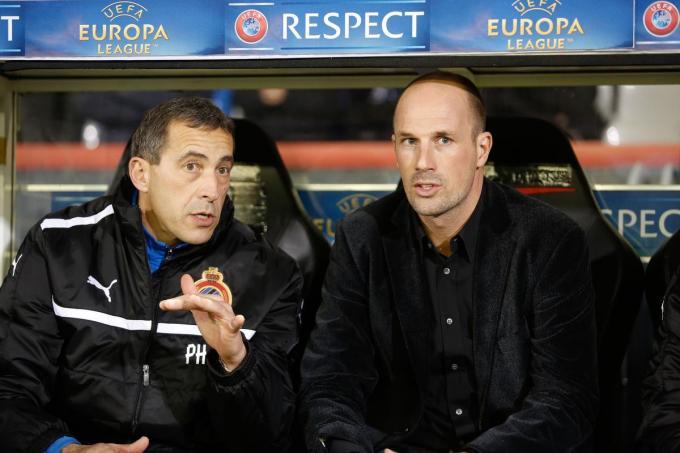 Philippe Vande Walle en Philippe Clement in 2012, toen die laatste even interimcoach van Blauw-Zwart was.