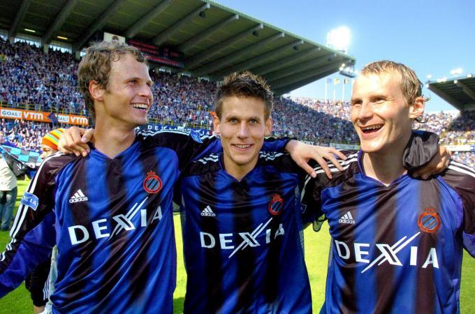 David Rozehnal aan het feest met Michael Klukowski en Rune Lang in 2005.