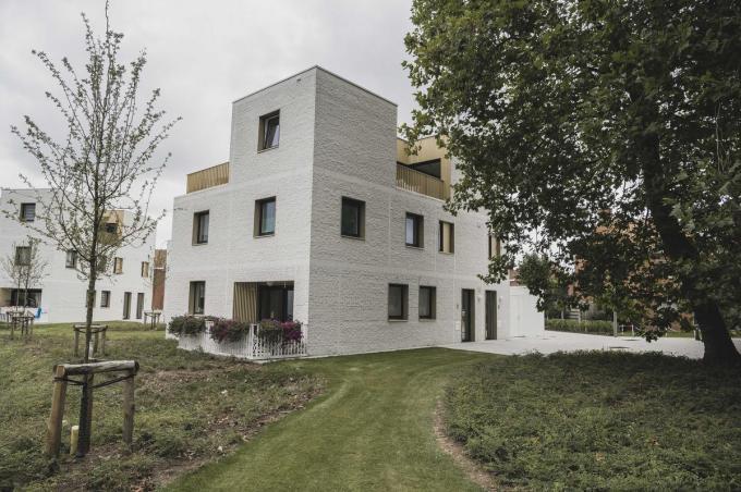 De woningen op de Knok bestaan telkens uit drie woonentiteiten.