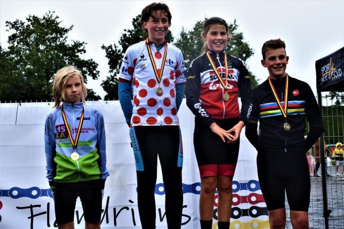 Reeks 2 met de topdrie Thiano Del-Haye, Basile Sierens en Viktor Vermeersch samen met primus bij de meisjes Alesia Vermeersch.