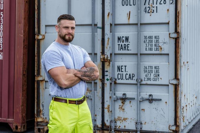 In zijn vrije tijd doet Olivier aan bodybuilden. (foto VTM)