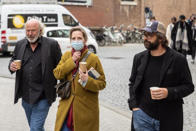 Maaike Cafmeyer en haar man Frans Grapperhaus (links).