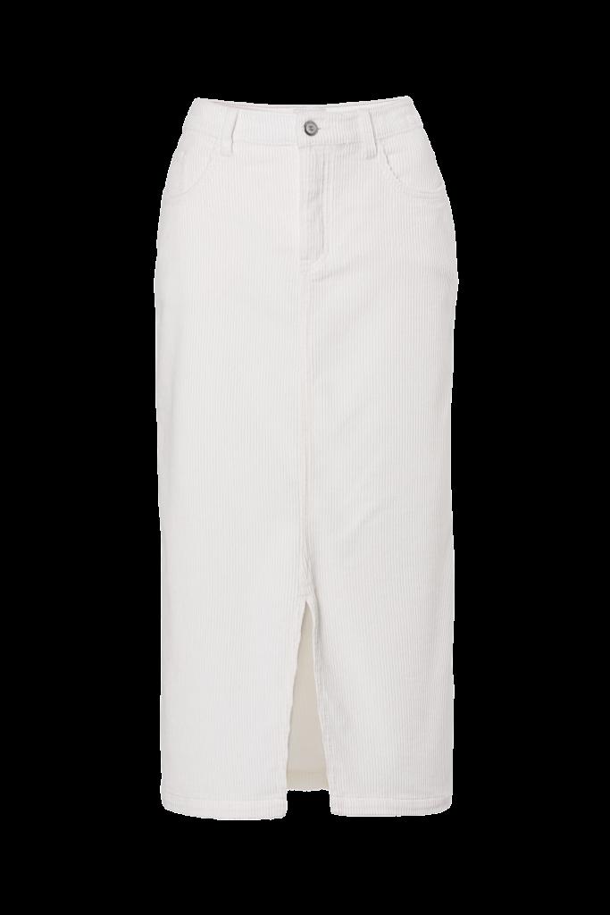 Witte fluwelen rok (29,99 euro), van C&A.