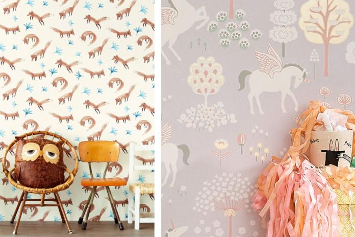 Behang Prints Opvallend : Kinderkamertrend behangpapier met dierenprint libelle mama