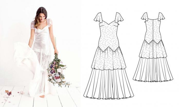 367470af287 Couture  12 patrons de robes de mariée - Femmes d Aujourd hui