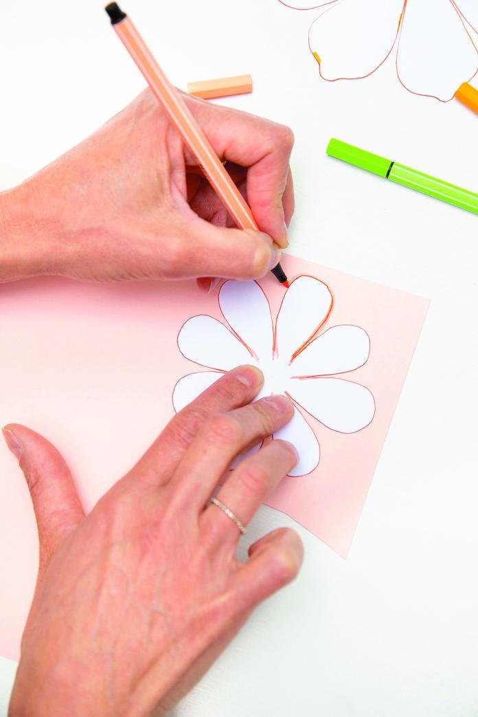 Fleur en papier (anémones)