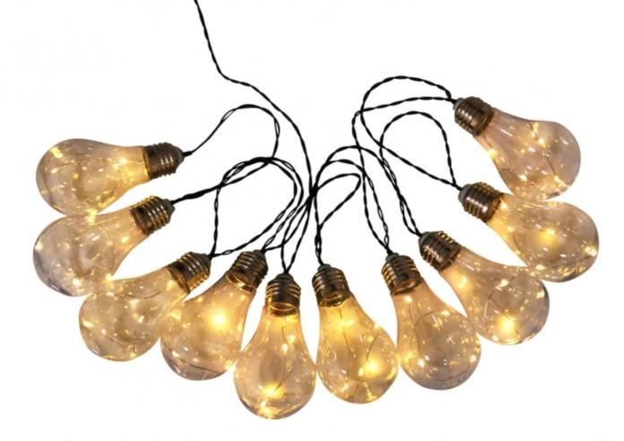 Guirlande solaire Glühbirne Plexiglas - Transparent