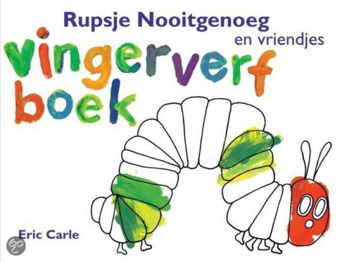 Rupsje Nooitgenoeg En Vriendjes Vingerverfboek Libelle Mama