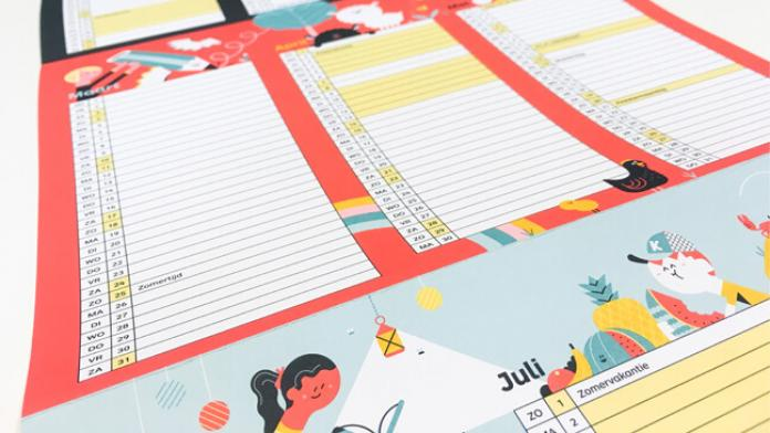 Schoolkalender van Klasse - copyright Klasse