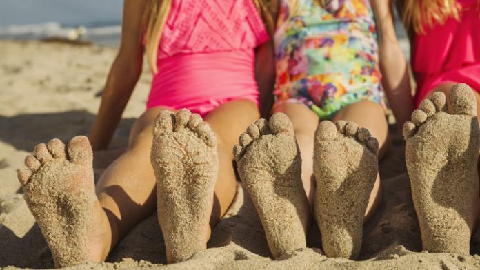 zand voeten