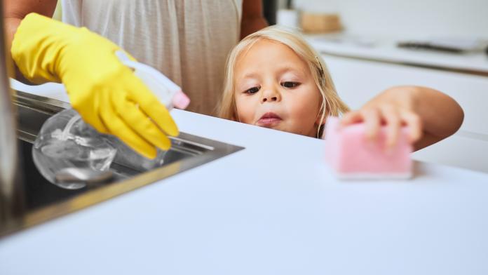 schoonmaken met kinderen