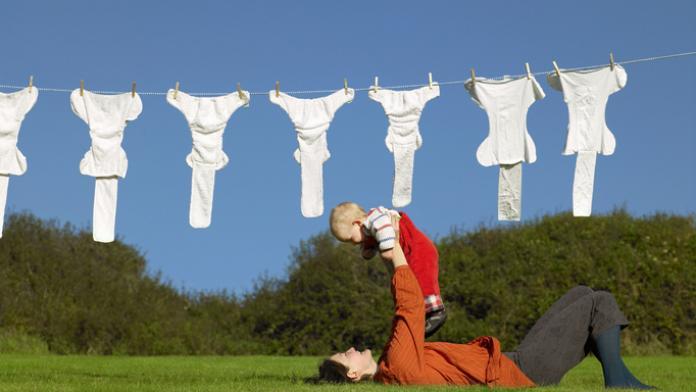 herbruikbare luiers wassen