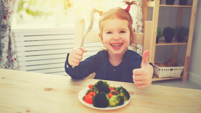 Le régime végétarien chez un enfant