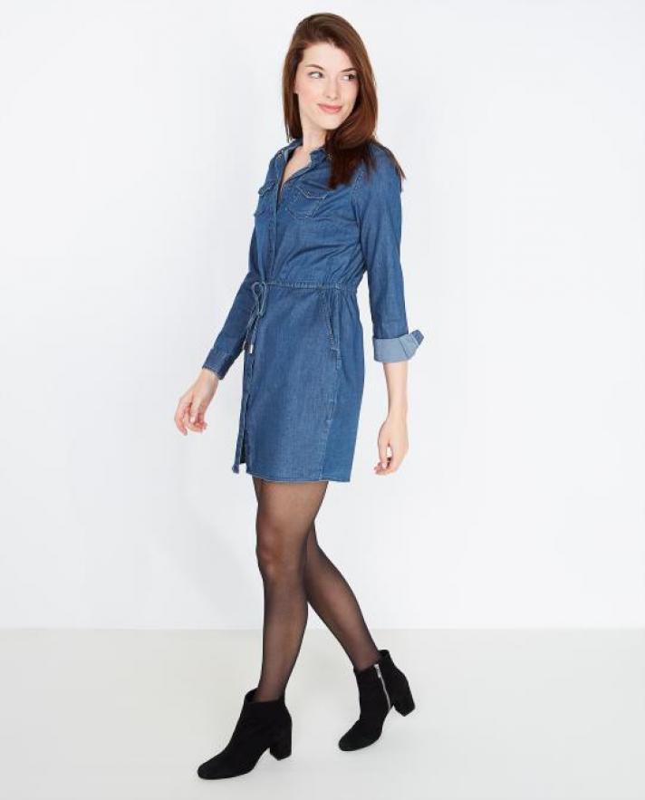 La robe façon longue chemise