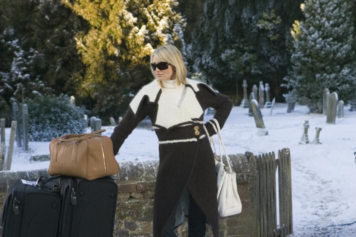 Cameron Diaz a pu garder toutes les tenues portées par Amanda dans le film.