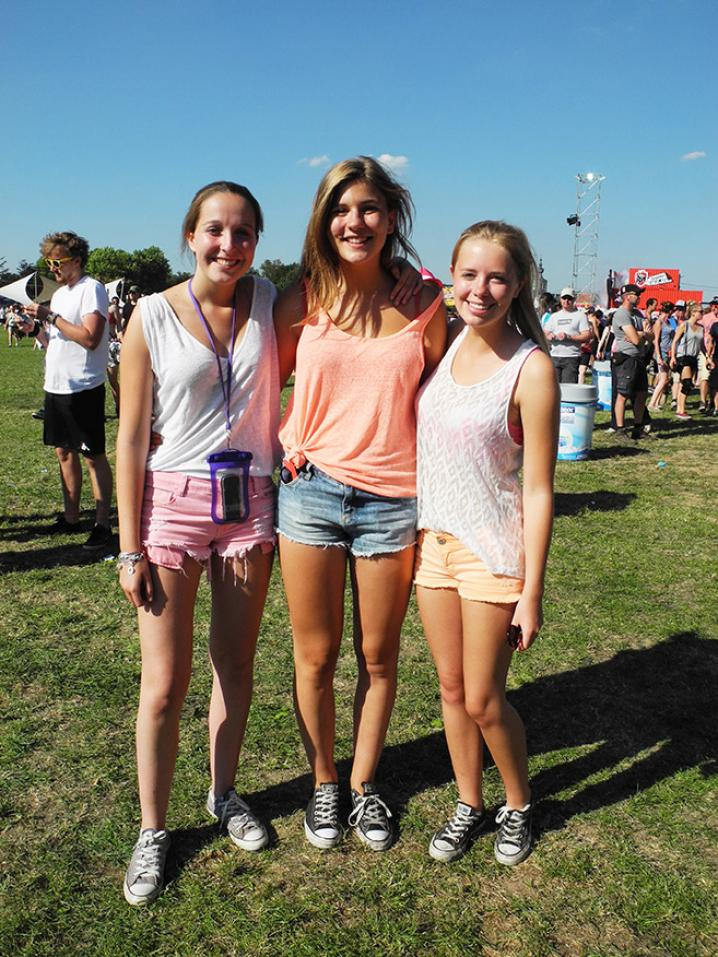 Annelies, Hannah en Charlotte