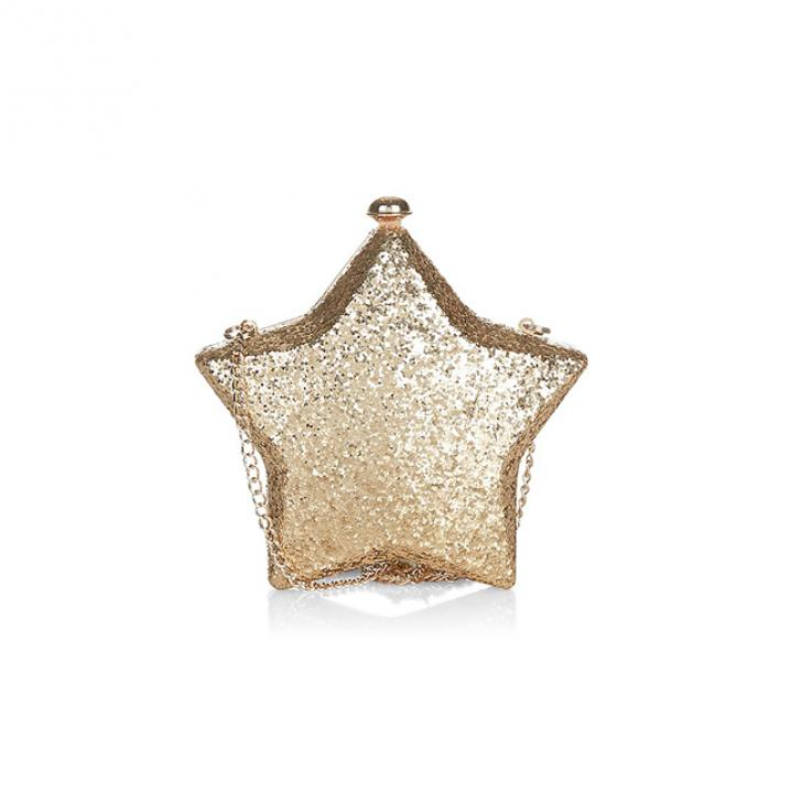 Gouden glitterclutch