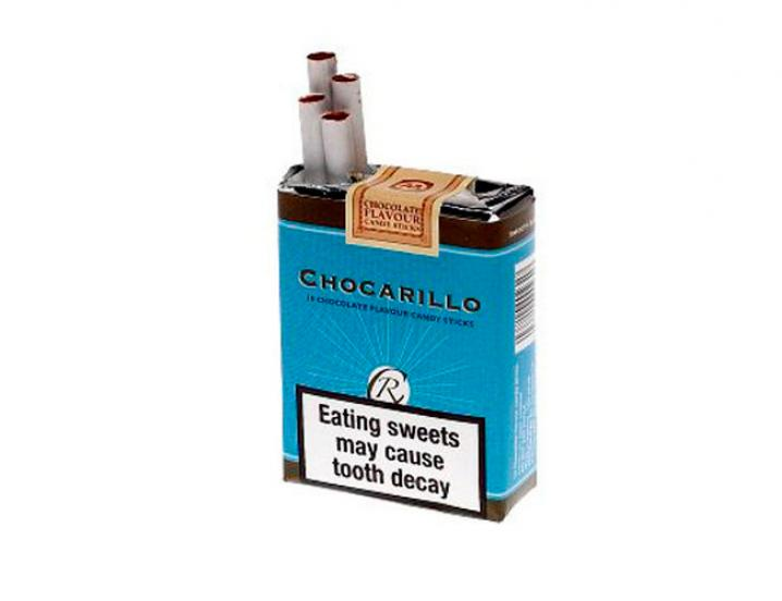 Les cigarettes en chocolat