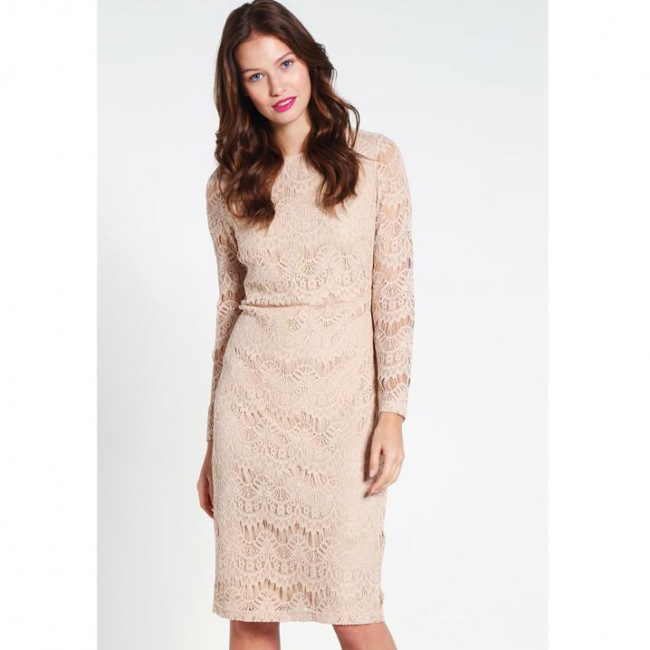 Nude kanten jurk