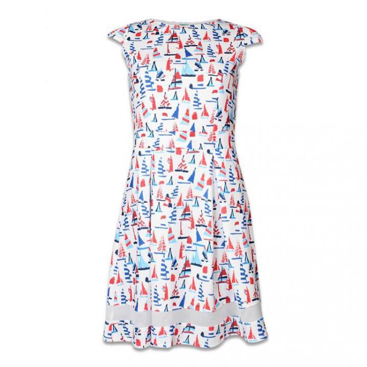 Witte jurk met print
