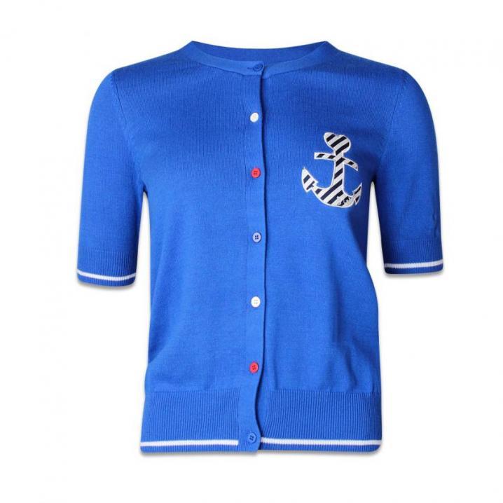 Blauwe cardigan