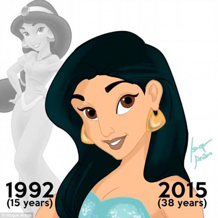 Jasmine was 15 jaar in 1992.