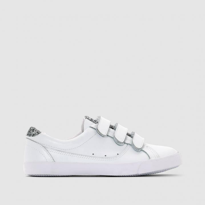 Witte sneakers met glitters