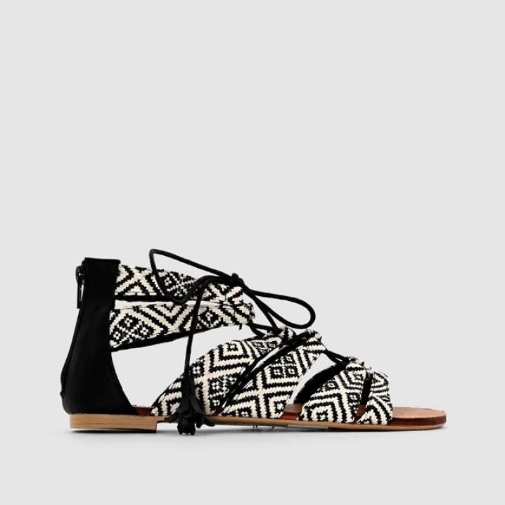 Sandaal met print