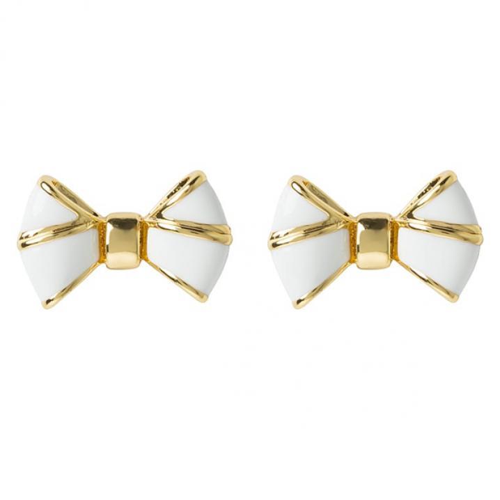 Wit-goudkleurige oorbellen