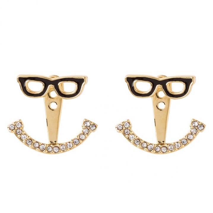 Smileyoorbellen met zonnebril