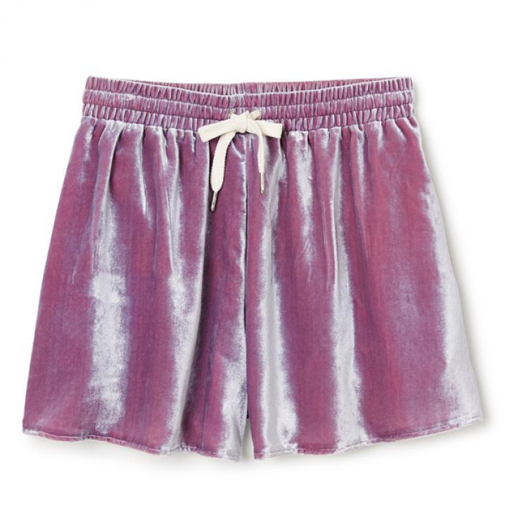 Roze fluwelen short
