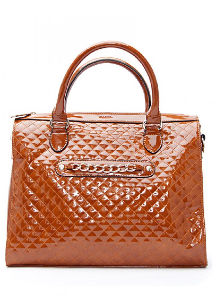 Shiny shopper handbag 5495