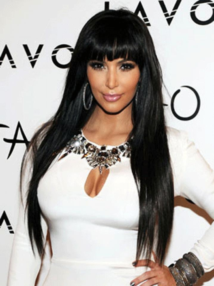 Kim Kardashian a une frange