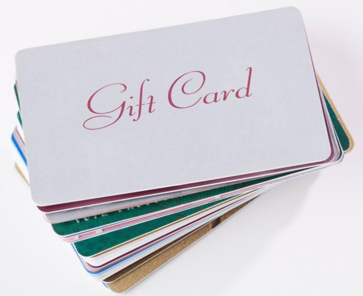 Des cartes cadeaux