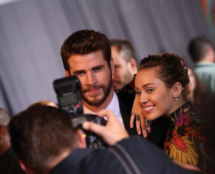 Miley Cyrus en Liam Hemsworth