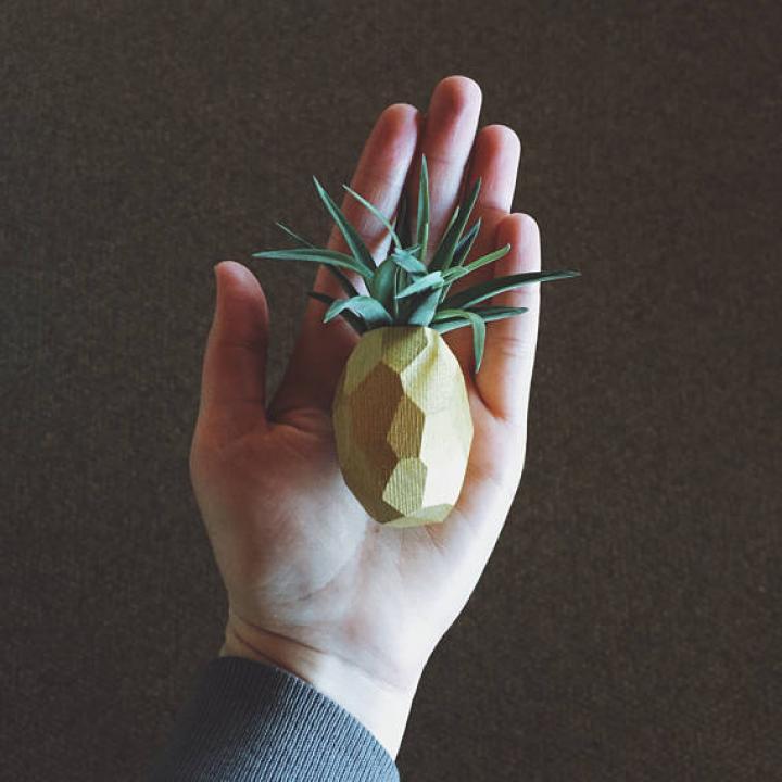 Ananasvaasjes via Etsy